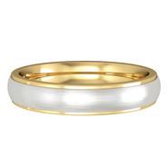 644E083 9ct 4mm Yellow/White Gold band