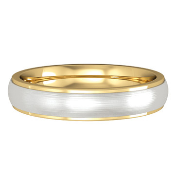644E083 9ct 4mm Yellow/White Gold band