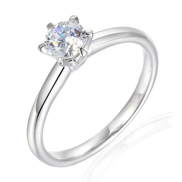 White Gold Diamond Solitaire 0.50ct