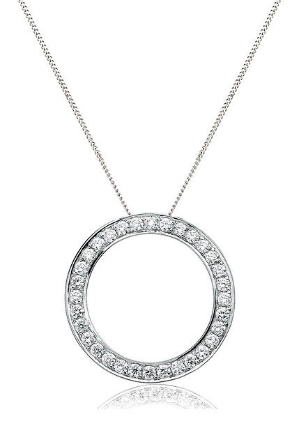 18ct White Gold Circle of Life Pendant