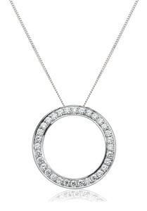 18ct White Gold Circle of Life Pendant