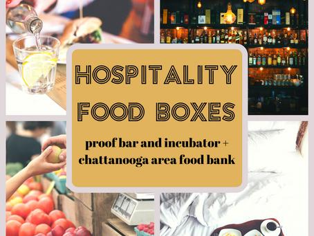 Proof + Chattanooga Area Food Bank - Hospitality Food Boxes