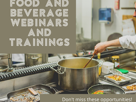Food and Beverage FREE TRAININGS!