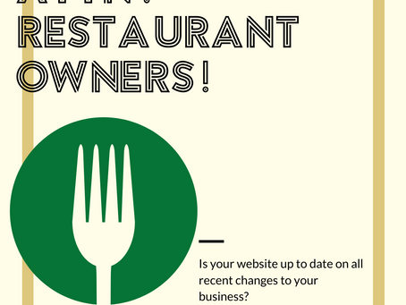 Restaurant Owners - Redesign Your Website!