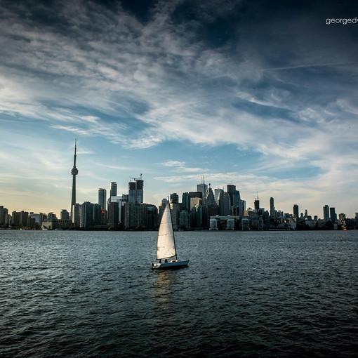 Toronto Skyline At Dusk (October)