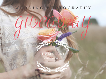 Wedding photography giveaway - There's still time to enter!