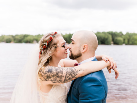 Caroline and Vincent's Rustic Backyard Wedding - Ashburnham, MA