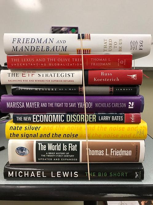 B usiness, economics, Thomas Friedman, Michael Lewis, Marissa Mayer