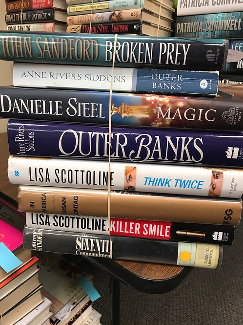 Fiction, Sandford, Siddons, Steel, Scottoline
