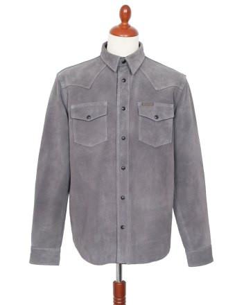 Indigofera-Hawley-Shirt-Leather-Grey-Fro
