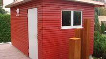 Aktuell: Gartenhäuser in allen Farben und Varianten, Ihren Wünschen angepasst.