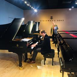 Piano Selection at Steinway