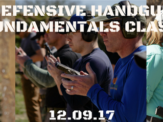 Defensive Handgun Fundamentals Class