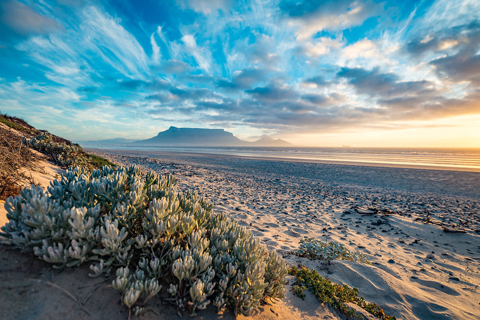 Breathtaking view of Table Mountain and Sunset Sky in South Africa, Cape Town.jpg