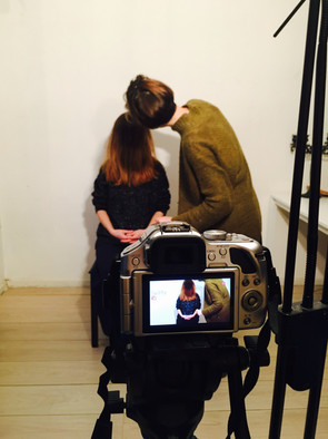 Working on a video piece by video and performance artist Yulia Ratman, Amsterdam, NL.