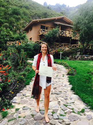 Yoga teacher Training Graduation The School Yoga Institute Sacha Munay  Sacred Valley, Peru
