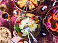 'Eat food. Not too much. Mostly plants.' Michael Pollan  San Marcos La Laguna, Lake Atitlan, Guatemala