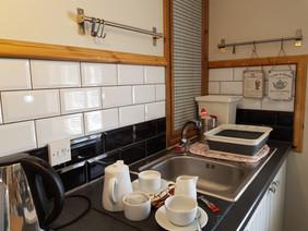 Kettle, Toaster, Microwave, full size Fridge