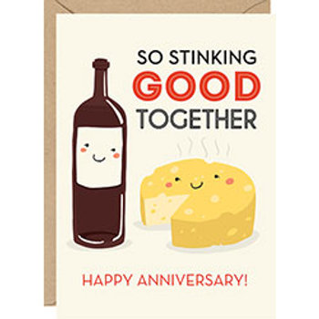 Stinking Good Together A6 Anniversary Card
