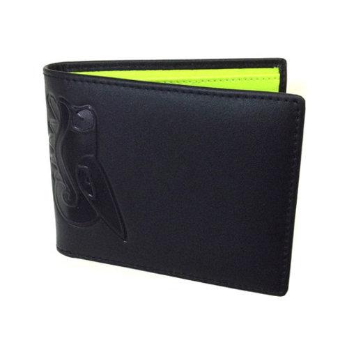 Black/Yellow Bi-Fold Wallet by Christopher Straub