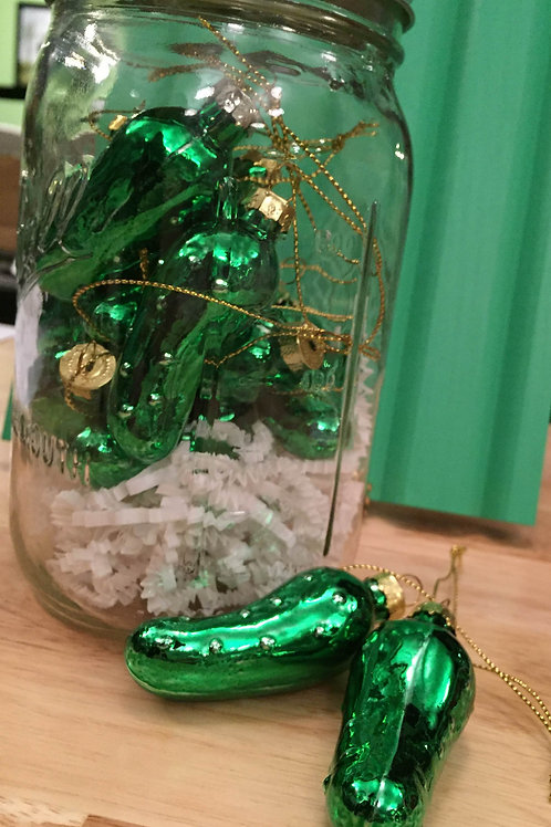 Handblown Glass Pickle Ornament