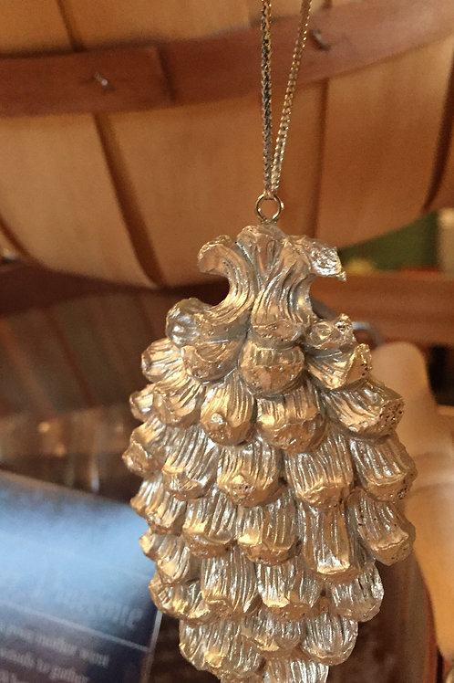 Legendary Silver Pincone Ornament