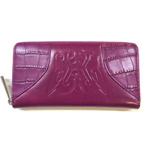 Orchid Leather Lady's Clutch by Christopher Straub