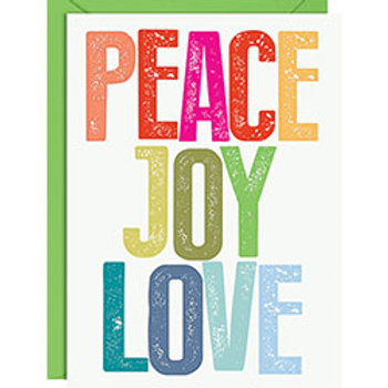 PEACE JOY LOVE A6 Holiday Cards 10 Pack