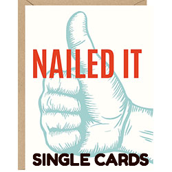 Single Note Cards