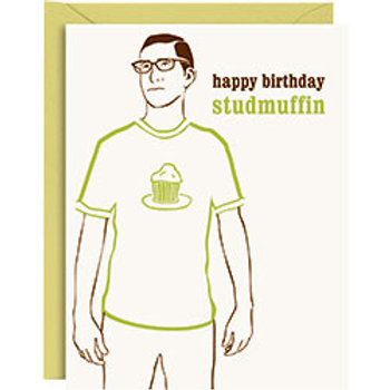 Studmuffin Letterpress A2 Birthday Card