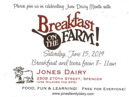 Breakfast on the Farm at Jones Dairy