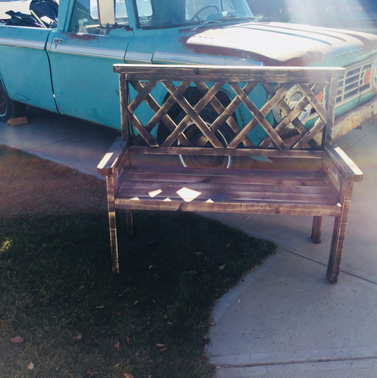 Cute little bench for those outdoor moments
