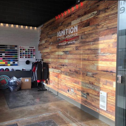 Custom woodwork wall