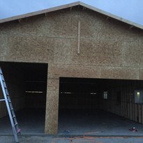 beautiful large garage for this homeowner!