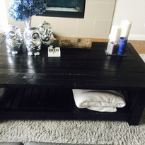 matching Handmade and stained little coffee table