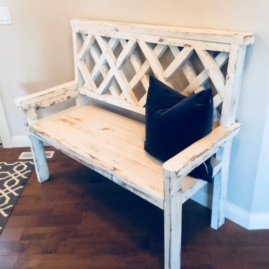 Custom white widow bench