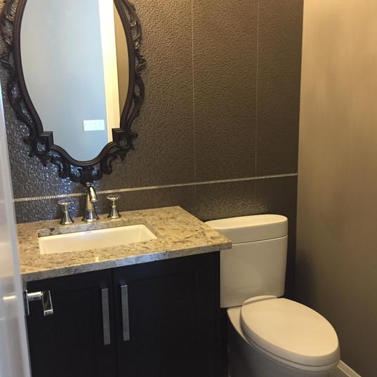 Custom wall tiles, with mirror and custom Swarovski grouting