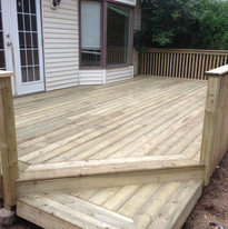 brand new deck for this home owner