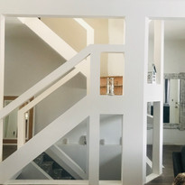 beautiful stair case was also in need of an upgrade, scroll to see the before and progress pictures.