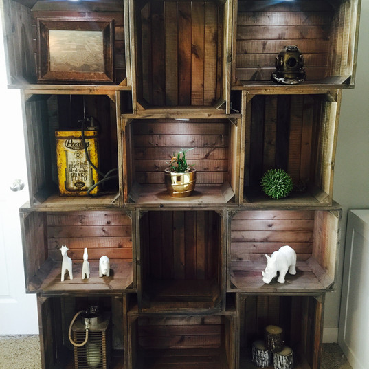 Gorgeous hand made/custom bookshelf unit
