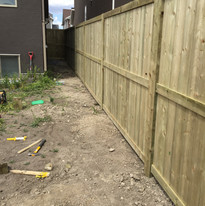brand new fence for this new property