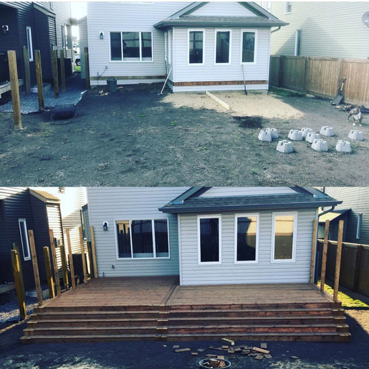before and after of this gorgeous deck!