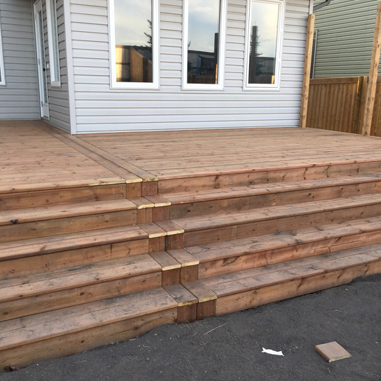 After of a tiered new deck add on