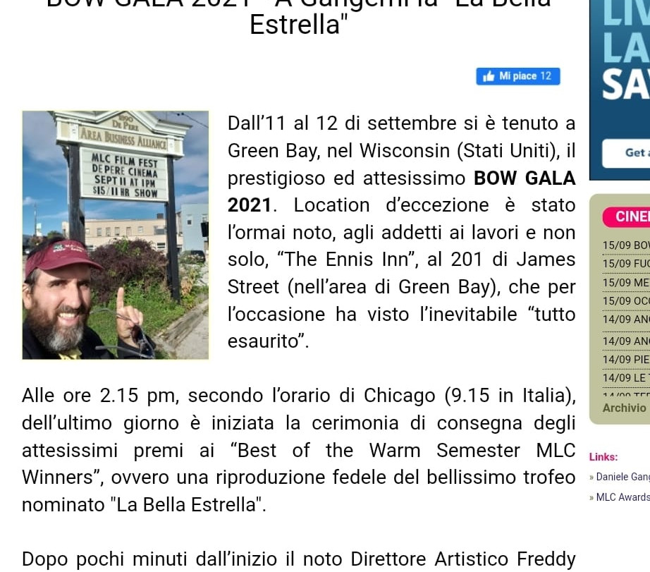 Cinemaitaliano.info (ITALY - SEPT 2021)