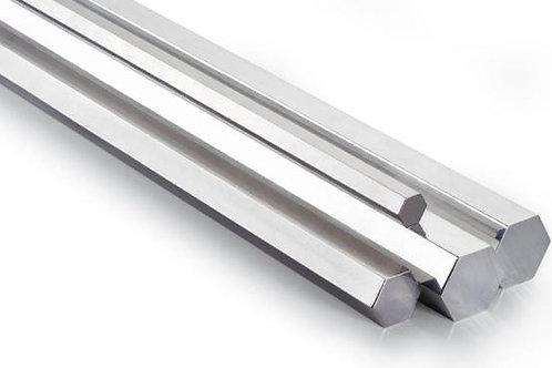 "Hexagonal Bar 1-1/2"" x 12' Inox T-316"
