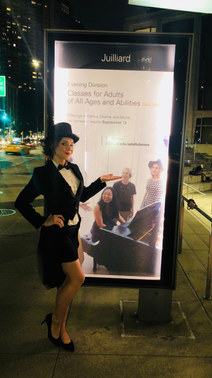Annie Moore on the Juilliard Poster at Alice Tully Hall