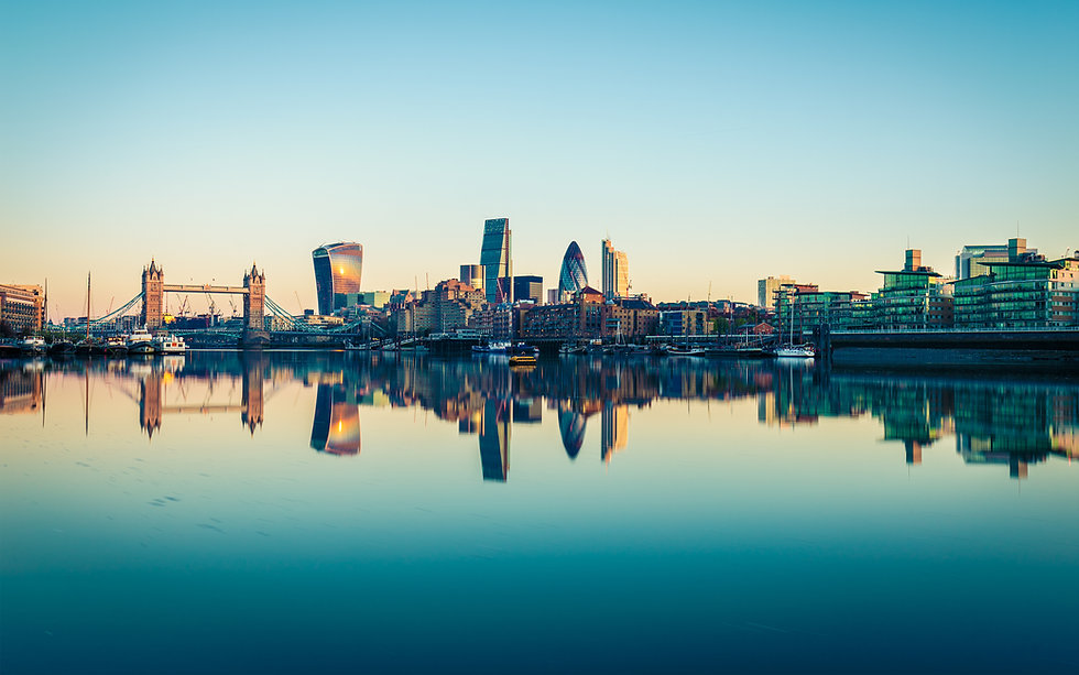 Panoramic View of City London in UK