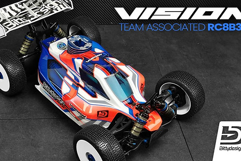 Carrosserie Bittydesign Vision Team asso RC8B3.1