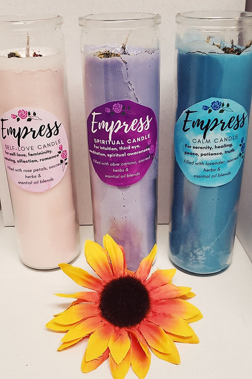 Herbal Empress Candles
