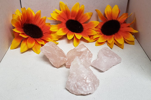 Raw Rose Quartz Crystals (Sold Individally)